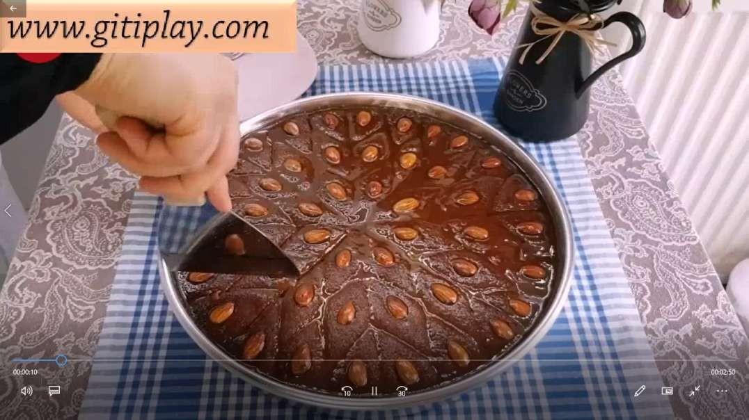 طرز تهیه شیرینی خانگی خوشمزه ترکی ( شام) + زیرنویس فارسی