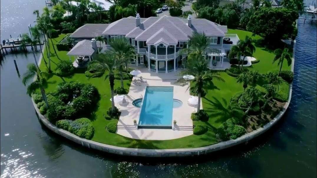 خانه مهمانی رویاها در یک جزیره لوکس اختصاصی در فلوریدا در ایالات متحده
